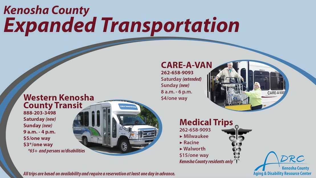 Kenosha County transit updates graphic