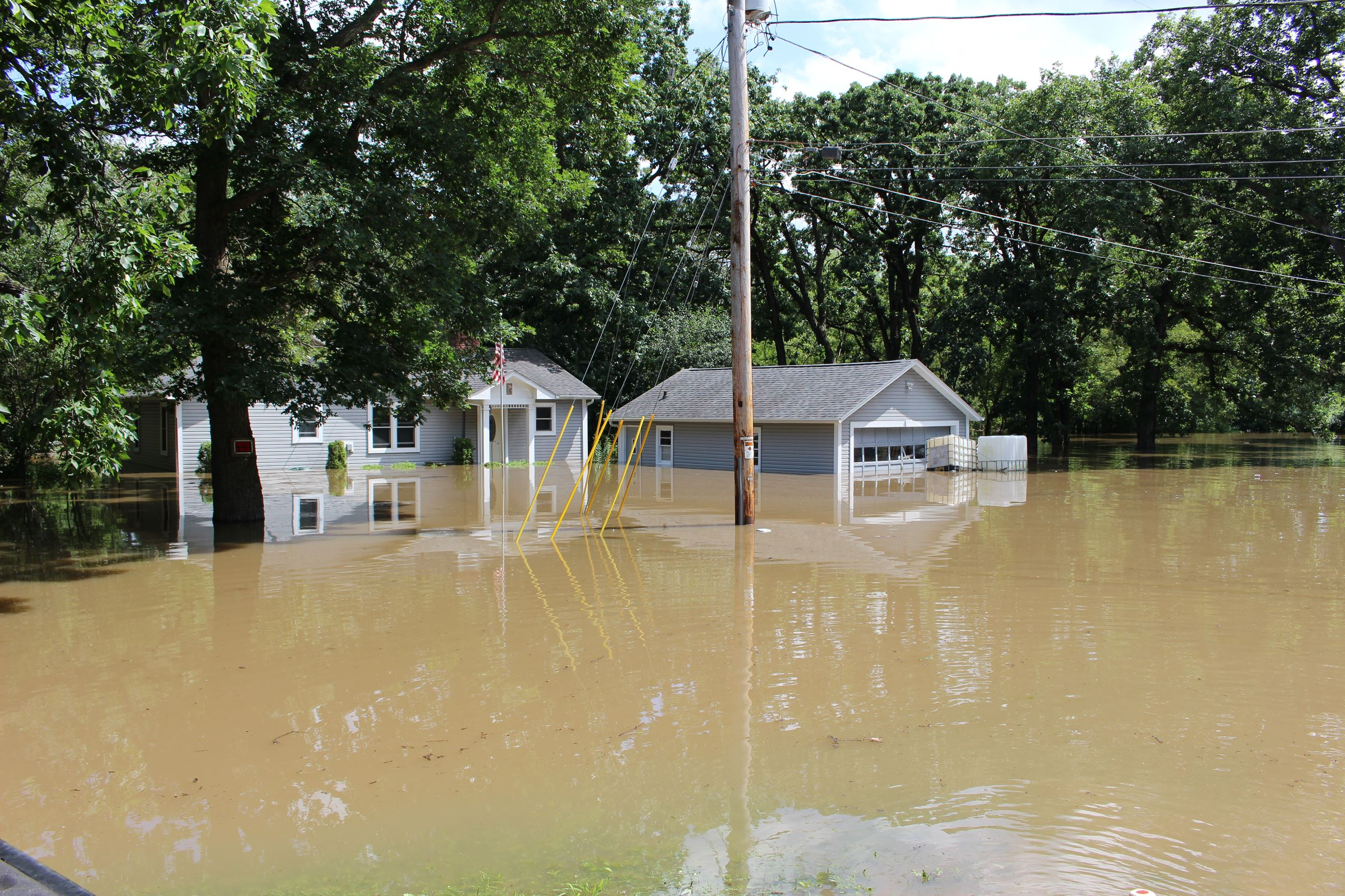 Flooded house in Wheatland