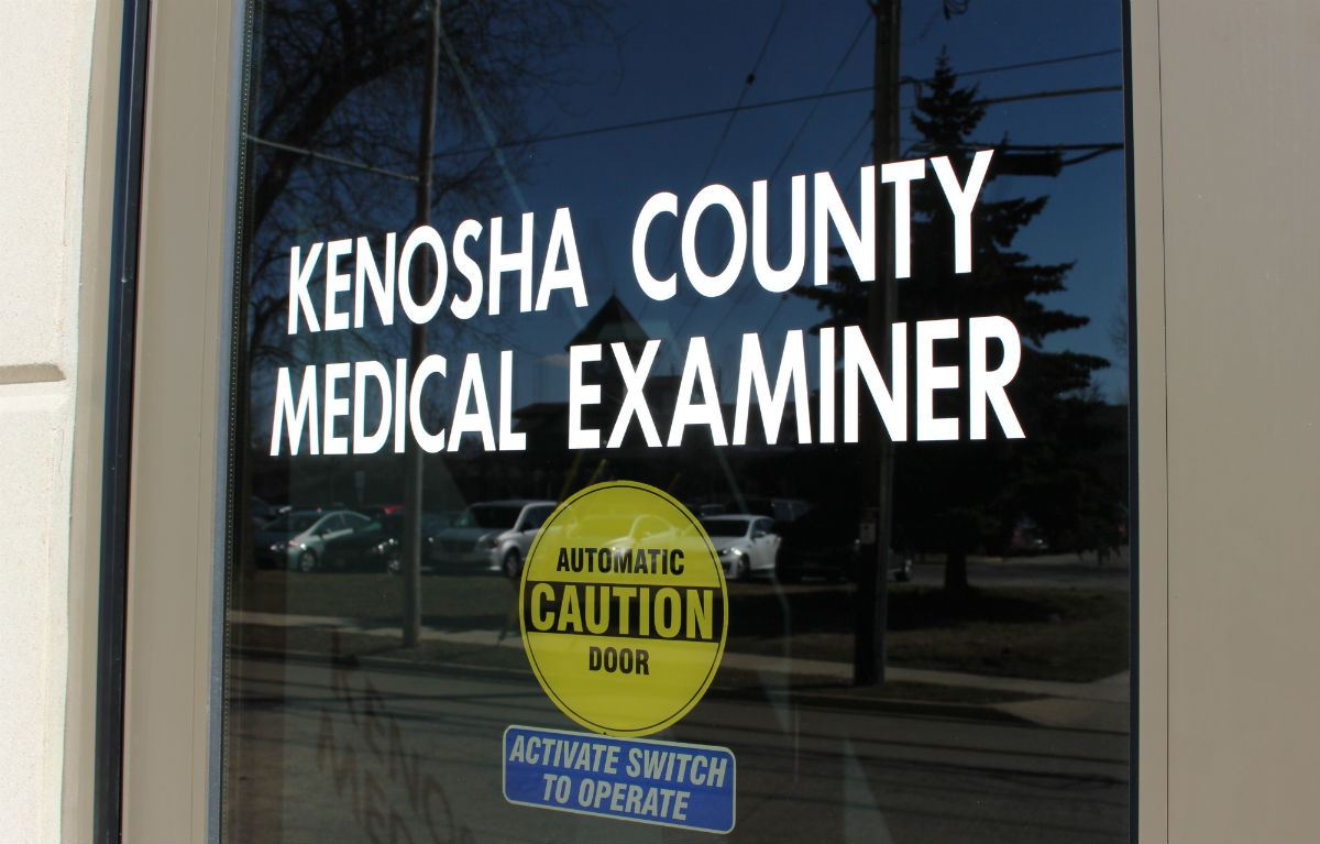 Medical Examiner's Office door