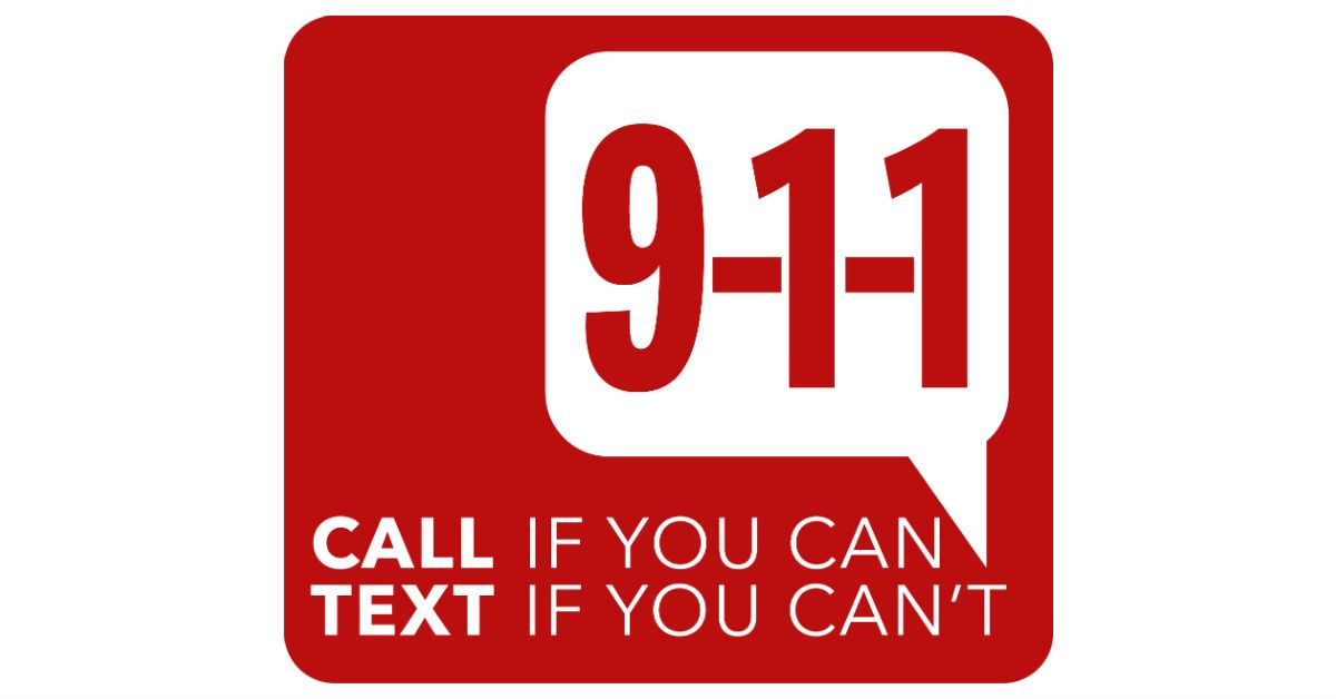 text to 911 FB LINK