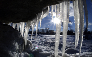 Icy Scene provided by Kenosha News